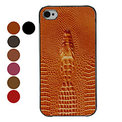Gavial relief Caisse dure de conception de grain pour iPhone 4/4S (couleurs assorties)