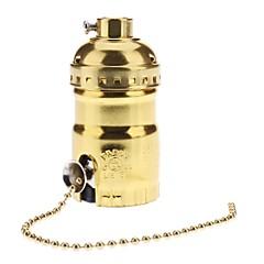 E26 kultainen väri pohja lampunpidikettä lamppupitimeen kytkimellä