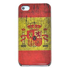 vintage spanje vlag patroon harde case voor iPhone 4/4s