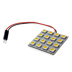 BA9S/Festoon/T10 3W 16x5050SMD 180-190LM 3000-3500K Warm Wit LED auto Kentekenplaat / Dome / leeslamp (12V)