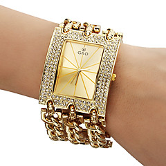 Damen Modeuhr Armband-Uhr Quartz Band Glanz Gold