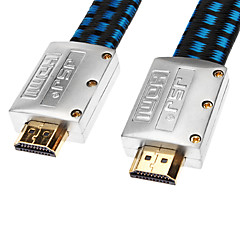 JSJ® 1.8M 5.904FT HDMI V1.4 Male to Male Cable Flat Type Net-Plated Gold-Plated for Chromecast/Blu-Ray DVD