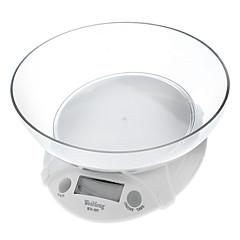 """1.8 """"LCD Digital Balança de cozinha - branco (7kg/1g)"""