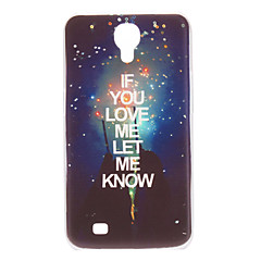 """Let Me Know You Love"" Pattern Hard Case for Samsung Galaxy Mega 6,3 I9200"