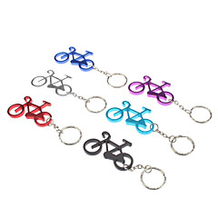 מחזיק מפתחות דגם אופניים סגסוגת אלומיניום עם וו carabiner