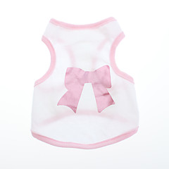 Dog Shirt / T-Shirt Pink Dog Clothes Summer / Spring/Fall Bowknot