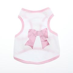 Psy T-shirt Różowy Ubrania dla psów Lato / Wiosna/jesień Kokarda
