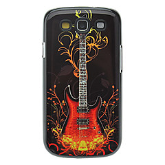 Fashion Guitar Pattern Aluminum Hard Case för Samsung Galaxy S3 I9300