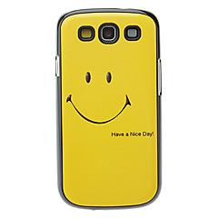 Smilende ansigt mønster Aluminum hårdt tilfældet for Samsung Galaxy S3 i9300
