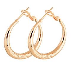 Gold Plated bronze Circle hoop Earrings ER0343