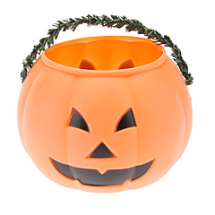 Plastic Pumpkin Bucket (Medium)