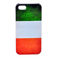 abs a bandeira padrão caso de volta italiano para o iphone 5/5s