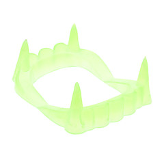 Dentes falsos luminosos para Halloween