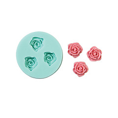 Rose Shape Silicone Mould Cake Decorating Baking Tool ,Random Color\ \ \ \ \