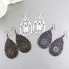 Σκουλαρίκι Κρεμαστά Σκουλαρίκια Κοσμήματα Γυναικεία Πάρτι / Καθημερινά Κράμα Μαύρο / Ασημί KAYSHINE