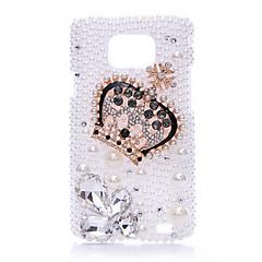 Heteromorphism Diamond Pearl Crown Tillbaka Case till Samsung Galaxy S2 I9100