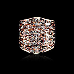 Hot sprzedaży Noble 18K Złotem i Pave austriacki Pierścień Kryształy dla kobiet