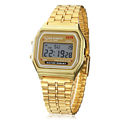 Men's Watch Dress Watch Multi-Function Square Digital LCD Dial Alloy Band