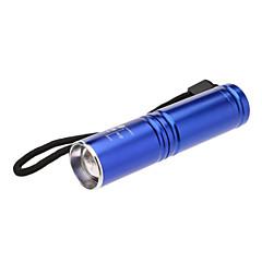 3-Mode Cree Zoom LED Flashlight (200LM, 1xAA, Blue)