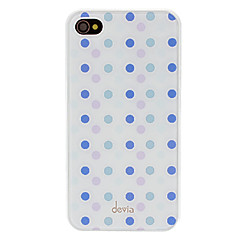 DEVIA Concise Purple and Blue Round Dots Pattern Smooth Surface PC Hard Case for iPhone 4/4S