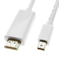 1,8 m 6 ft lyn han til HDMI v1.4 han kabel hvid til MacBook Air / MacBook Pro / iMac / Mac mini (dp-021-1.8m)