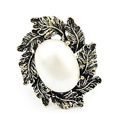 Korean Version Of The New 2013 Vintage Fashion Pearl Leaf Ring
