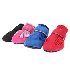 Invierno - Rojo / Azul / Rosado / Negro Material Mixto / Algodón - Calcetines y Botas - Perros - M / XL / S / L / XXL
