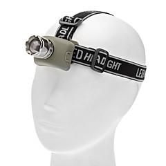 초점 조정 오스람 3 형태 크리 사람 LED 헤드 램프 (140LM, 3XAAA, 회색)