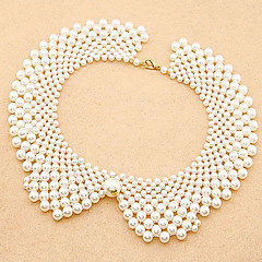 Fashion Hand-Woven Beaded Pearl Necklace Collar Temperament  Necklace