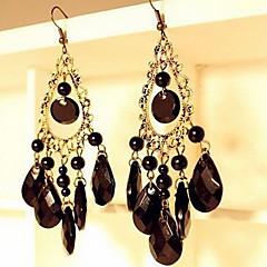귀걸이 드랍 귀걸이 보석류 일상 / 캐쥬얼 합금 여성 블랙