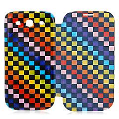 Oblique Line Gridding Leather Case for Samsung Galaxy S3 I9300