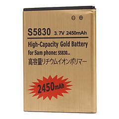 2450mAh batteria del telefono cellulare per Samsung S5830