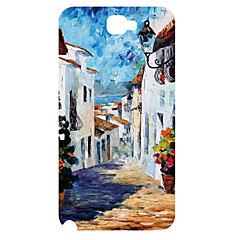 Country Design Pattern 3D Carving Plastic Back Cover for Samsung NOTE2 N7100