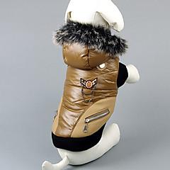 Fashion Two-zip-decorada Escudo cálido con capucha para Mascotas Perros (una variedad de colores, de tamaños)