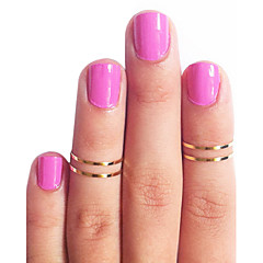 Stack Plain Above Knuckle Ring Set 4pcs/set 14mm/15mm/16mm