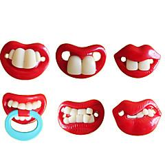 Dentes engraçados Personalidade chupeta chupeta com bico do peito