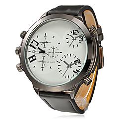 Multi-Function cadran rond PU bande de montre bracelet à quartz analogique pour homme