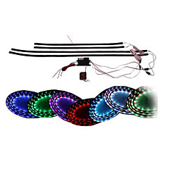 "7 Color LED Under Car Glow Undervogn System Neon Lights Kit 36 ​​""x 4 Trådløs fjernbetjening"