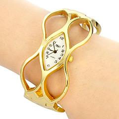 Dame Modeur Armbåndsur Quartz Bånd Bangles Elegante Guld Guld/Hvid