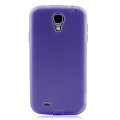 Minimalistisk TPU Hard Case Med Plug Hål för Samsung Galaxy S4 I9500