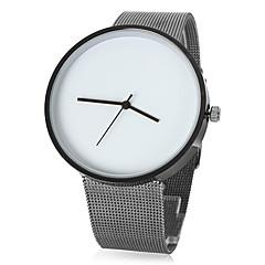 Conception simple cadran argenté bande d'alliage de montre bracelet à quartz analogique de la femme (couleurs assorties)