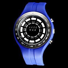Turbilhão Azul Estilo homens LED Digital Rubber relógio de pulso Band (cores sortidas)