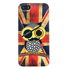 vintage union flag ugler blank TPU soft cover Case for iPhone 5/5s