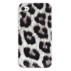 Joyland Silver Leopard Pattern ABS Back Case for iPhone 4/4S
