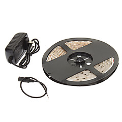 Waterdichte 5M 24W 60x3528SMD 900-1200LM 2800-3200K Warm Wit Licht LED Light Strip 12V 2A adapter