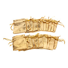 (20 pcs)Classic Gold/Silver Yarn Jewelry Bags For Daily