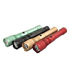 Ladattava 3-Mode CREE XM-L T6 LED Star Light taskulamppu (1000LM, 1x18650/3xAAA, Black / Green / Red / Gold)