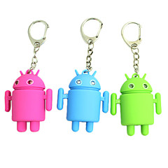 Lindo Android Robot estilo llavero w/2-Blue LEDs / Sound Effect (3xAG10, color al azar)