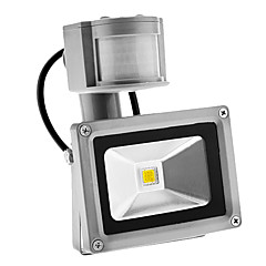 PIR 10W 900lm odkryty Motion Sensor Dzień Noc 6000K Super White Light LED Flood (AC85-265V)