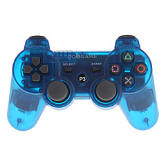 Goigame Game Wireless Bluetooth Controller for PS3 PC (Transparent Blue)